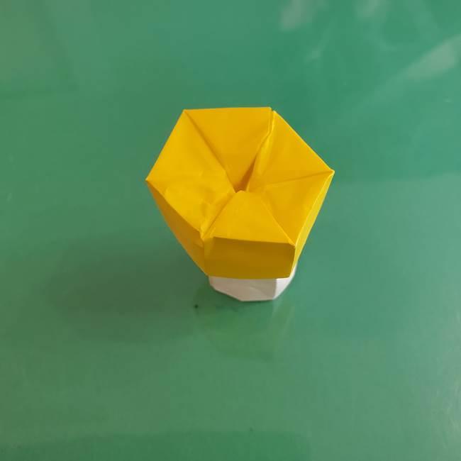 11月の折り紙 きのこの折り方 立体ver.②折る(26)