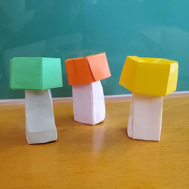 11月の折り紙 きのこの折り方 立体ver.②折る(27)
