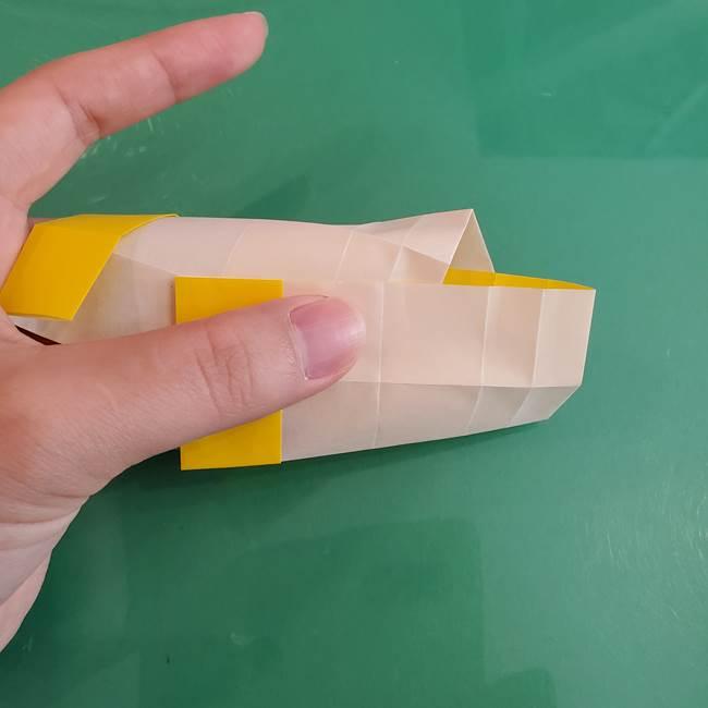11月の折り紙 きのこの折り方 立体ver.②折る(5)