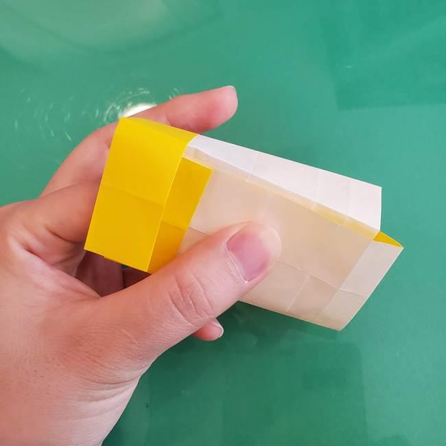 11月の折り紙 きのこの折り方 立体ver.②折る(6)