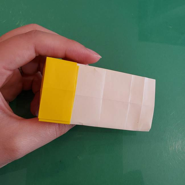 11月の折り紙 きのこの折り方 立体ver.②折る(7)