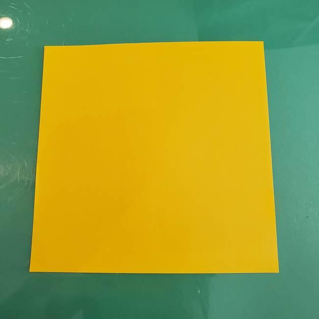 11月の折り紙 きのこ(立体)*用意するもの
