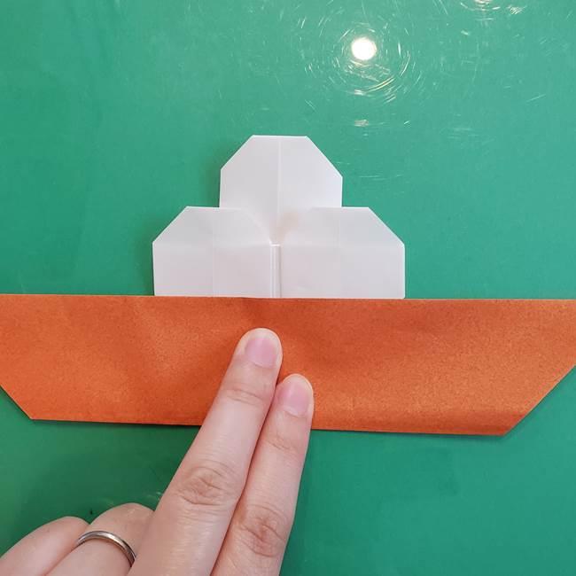 9月の折り紙 十五夜にピッタリ!月見団子(平面)の折り方作り方②完成(5)