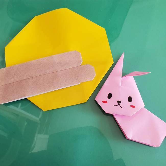 9月 うさぎの折り紙の簡単な折り方作り方(全身平面)まとめ