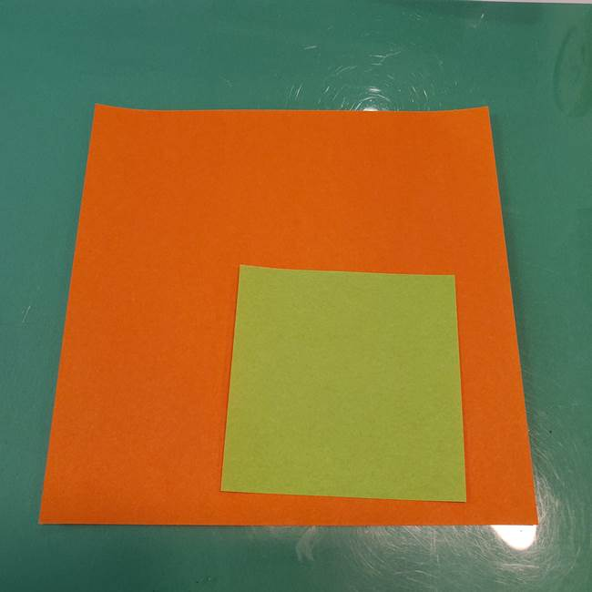 かぼちゃの折り紙 立体で難しいジャックオーランタン☆用意するもの(1)