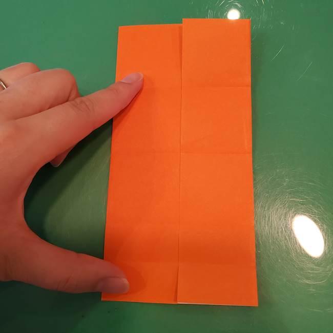 かぼちゃの折り紙 立体で難しいジャックオーランタンの折り方作り方①折り筋(11)