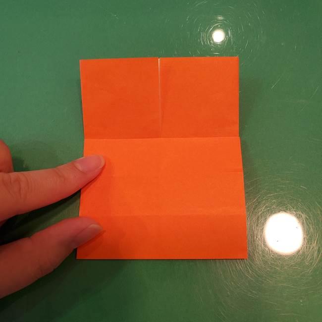 かぼちゃの折り紙 立体で難しいジャックオーランタンの折り方作り方①折り筋(12)
