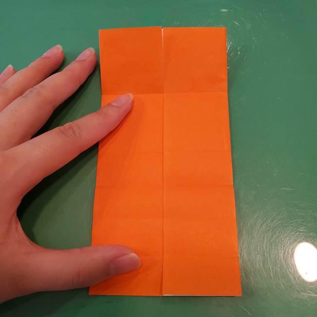 かぼちゃの折り紙 立体で難しいジャックオーランタンの折り方作り方①折り筋(13)