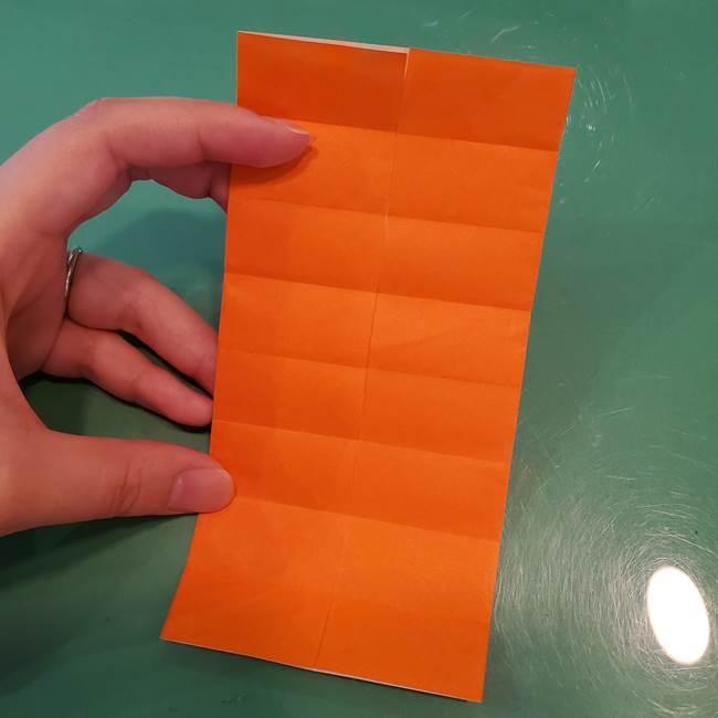 かぼちゃの折り紙 立体で難しいジャックオーランタンの折り方作り方①折り筋(14)