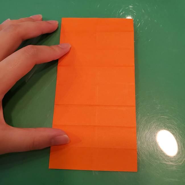 かぼちゃの折り紙 立体で難しいジャックオーランタンの折り方作り方①折り筋(15)