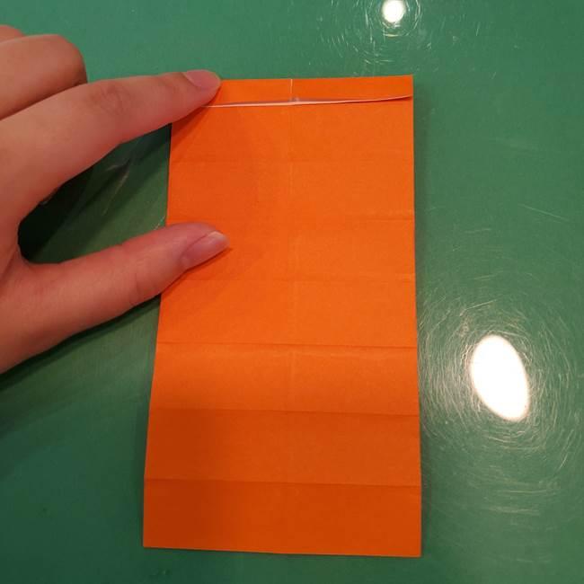 かぼちゃの折り紙 立体で難しいジャックオーランタンの折り方作り方①折り筋(16)