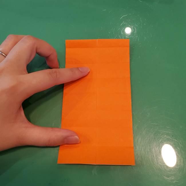 かぼちゃの折り紙 立体で難しいジャックオーランタンの折り方作り方①折り筋(17)