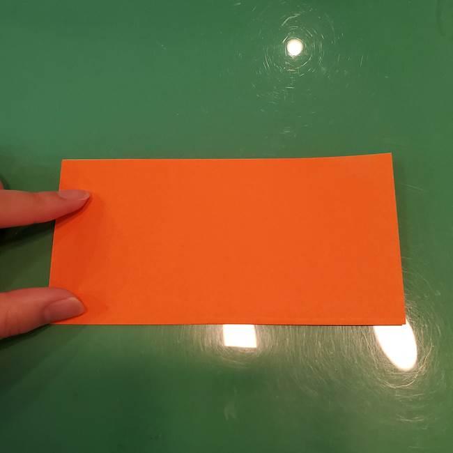 かぼちゃの折り紙 立体で難しいジャックオーランタンの折り方作り方①折り筋(2)