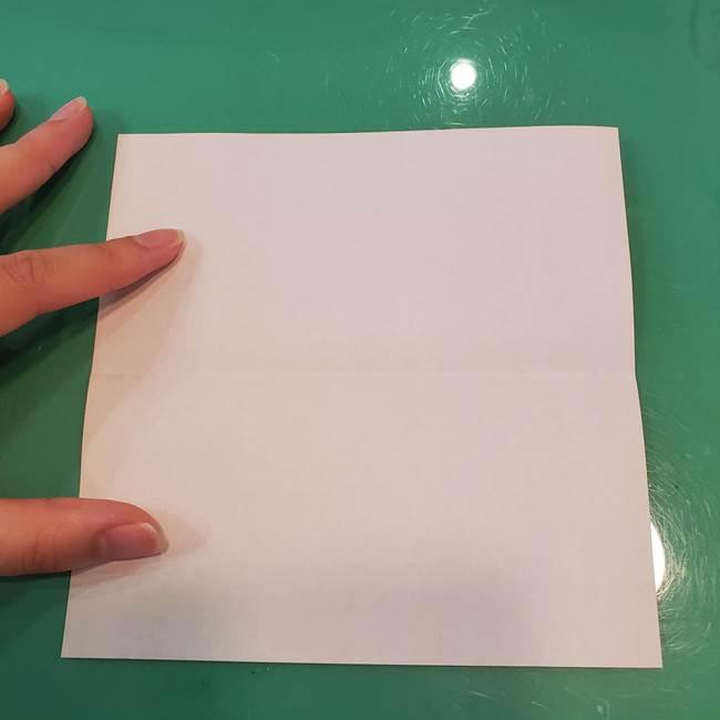 かぼちゃの折り紙 立体で難しいジャックオーランタンの折り方作り方①折り筋(3)