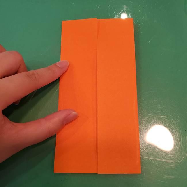 かぼちゃの折り紙 立体で難しいジャックオーランタンの折り方作り方①折り筋(5)