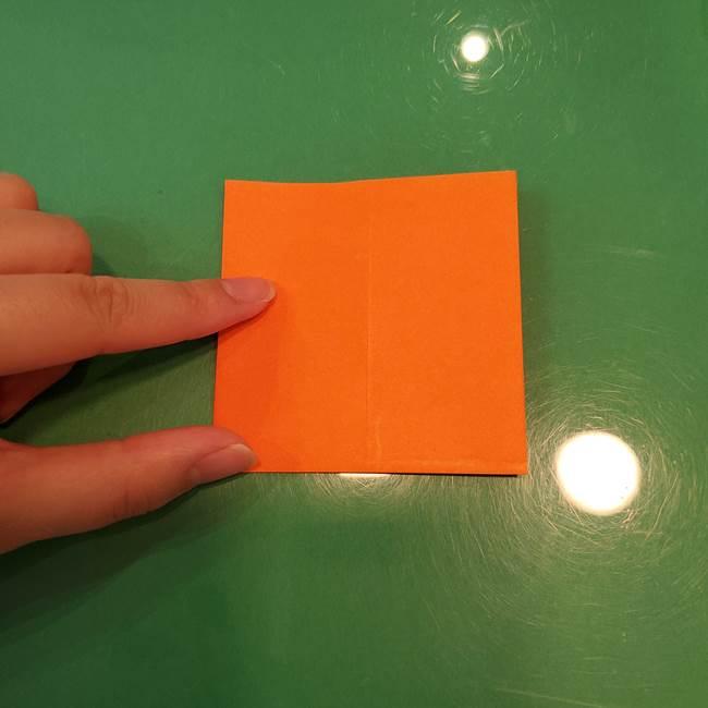 かぼちゃの折り紙 立体で難しいジャックオーランタンの折り方作り方①折り筋(6)
