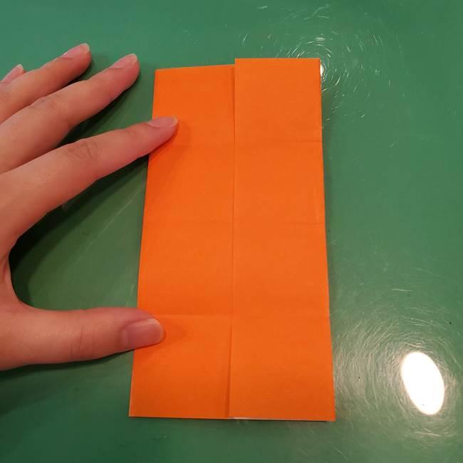 かぼちゃの折り紙 立体で難しいジャックオーランタンの折り方作り方①折り筋(9)
