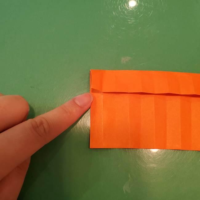 かぼちゃの折り紙 立体で難しいジャックオーランタンの折り方作り方②折る(2)