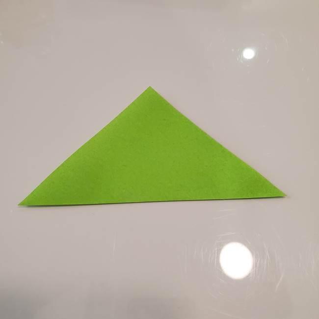 かぼちゃの折り紙 立体で難しいジャックオーランタンの折り方作り方③へた(2)