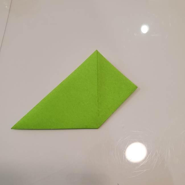 かぼちゃの折り紙 立体で難しいジャックオーランタンの折り方作り方③へた(6)