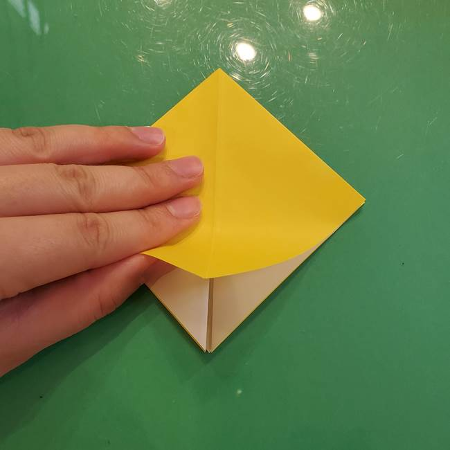 どんぐりの折り紙の折り方作り方(立体)①共通(8)