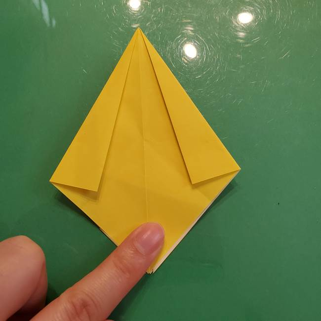 どんぐりの折り紙の折り方作り方(立体)②実(10)