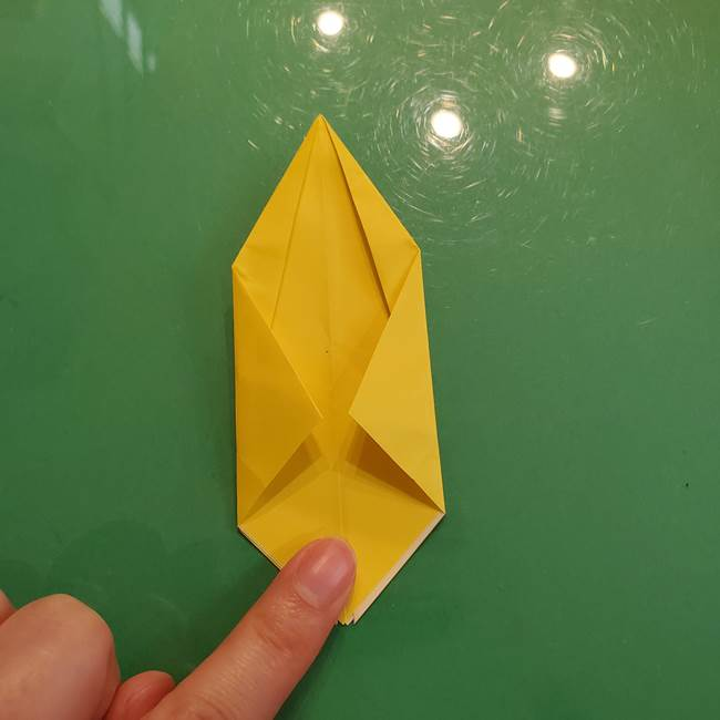 どんぐりの折り紙の折り方作り方(立体)②実(11)