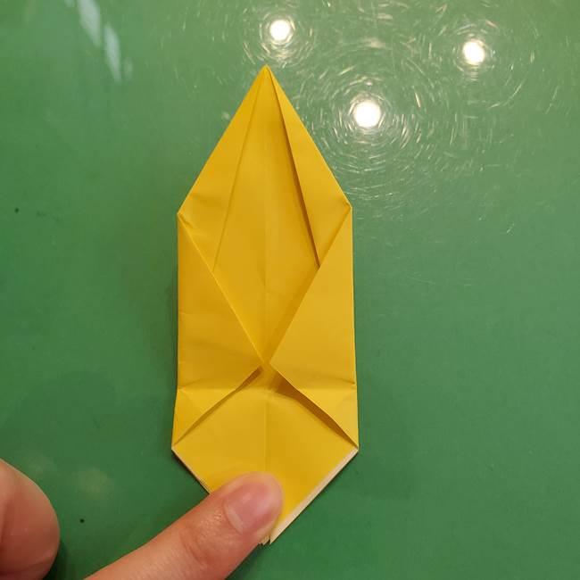 どんぐりの折り紙の折り方作り方(立体)②実(13)