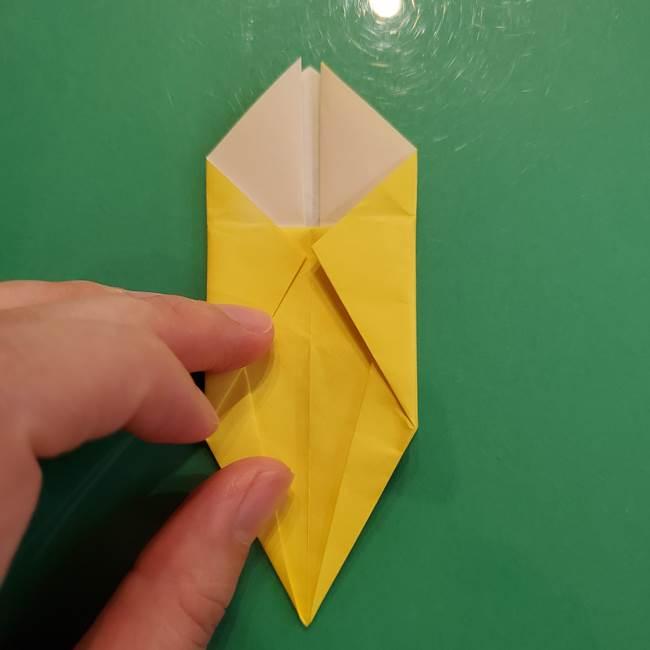 どんぐりの折り紙の折り方作り方(立体)②実(17)