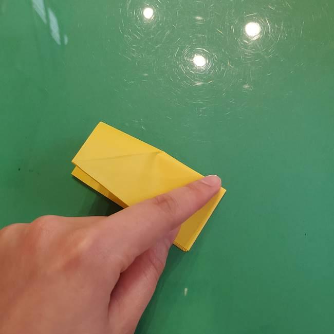 どんぐりの折り紙の折り方作り方(立体)②実(2)