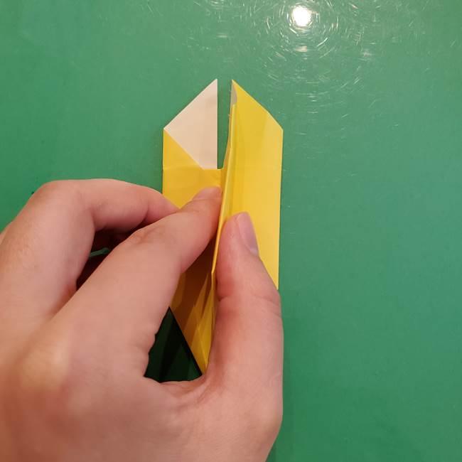 どんぐりの折り紙の折り方作り方(立体)②実(20)