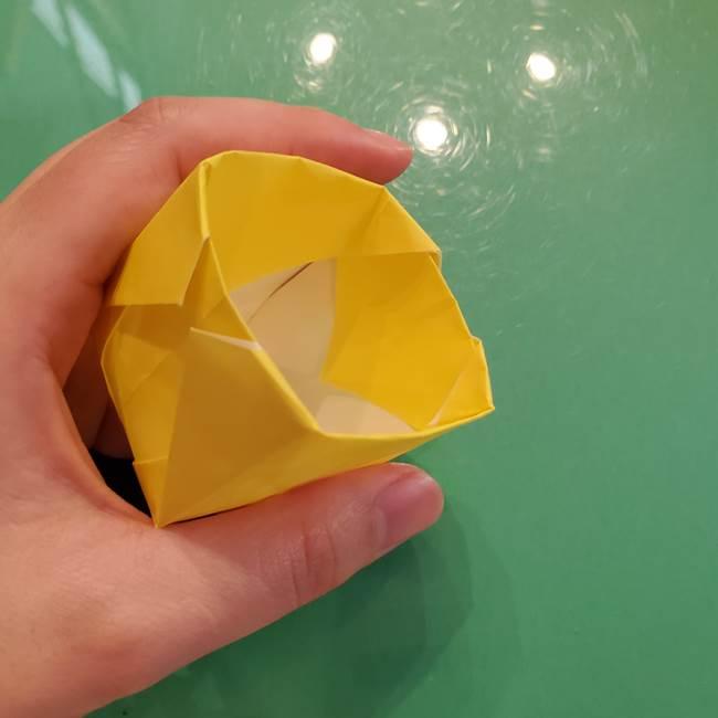 どんぐりの折り紙の折り方作り方(立体)②実(25)