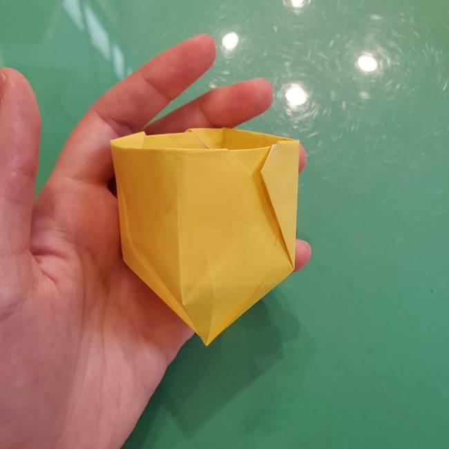 どんぐりの折り紙の折り方作り方(立体)②実(26)