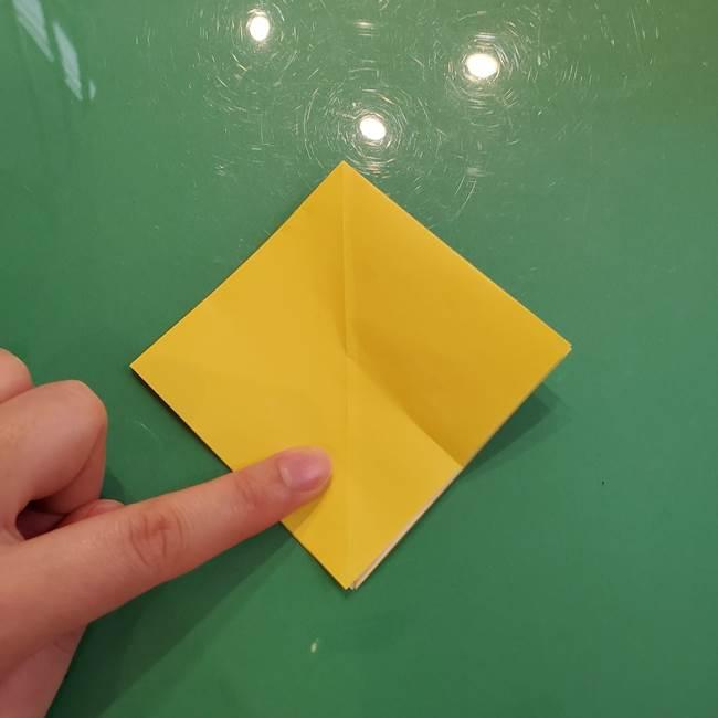 どんぐりの折り紙の折り方作り方(立体)②実(3)