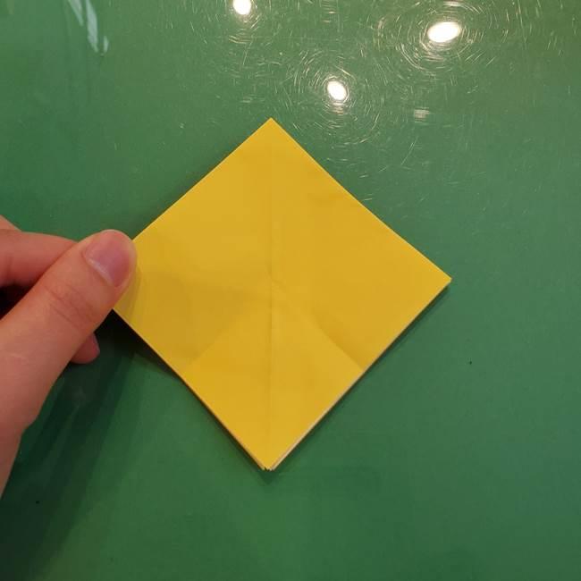 どんぐりの折り紙の折り方作り方(立体)②実(5)