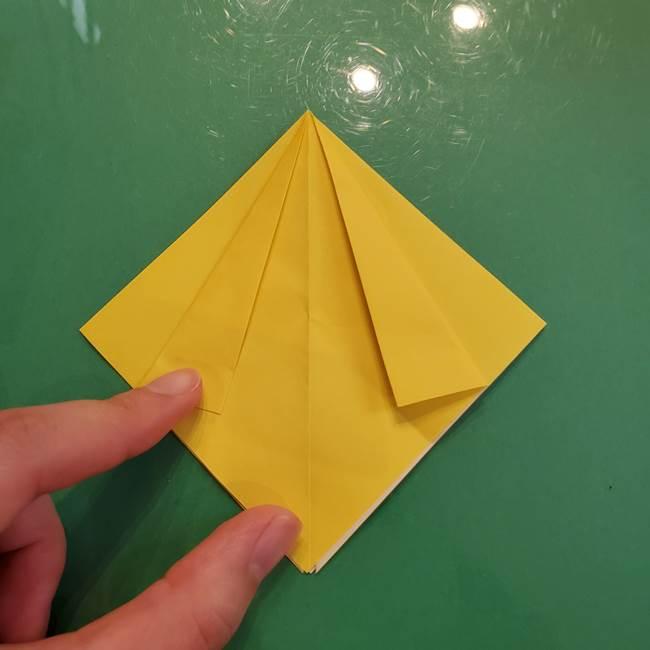 どんぐりの折り紙の折り方作り方(立体)②実(6)