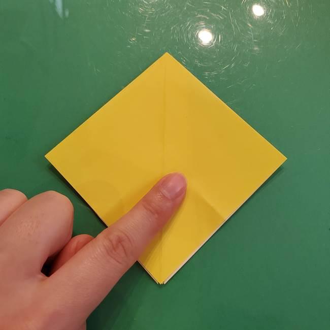 どんぐりの折り紙の折り方作り方(立体)②実(7)