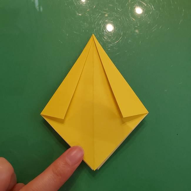どんぐりの折り紙の折り方作り方(立体)②実(8)