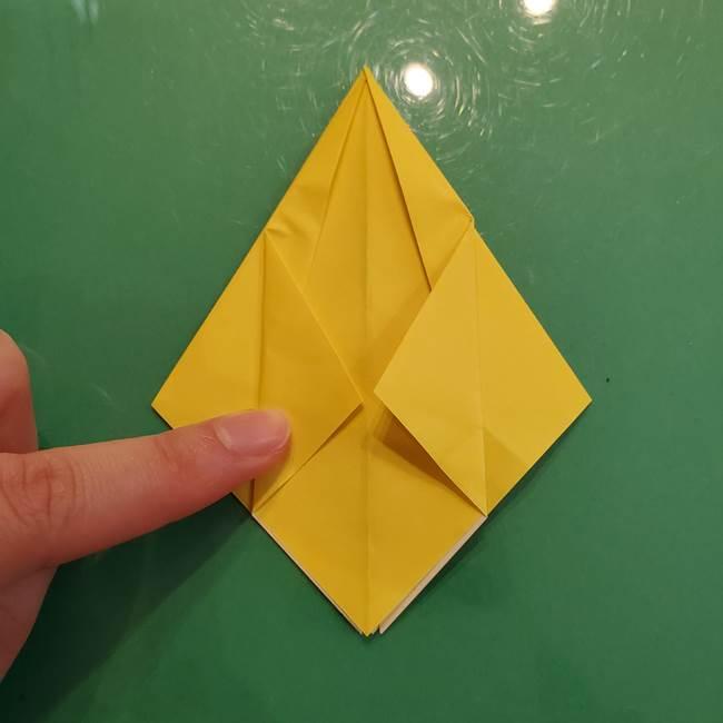 どんぐりの折り紙の折り方作り方(立体)②実(9)
