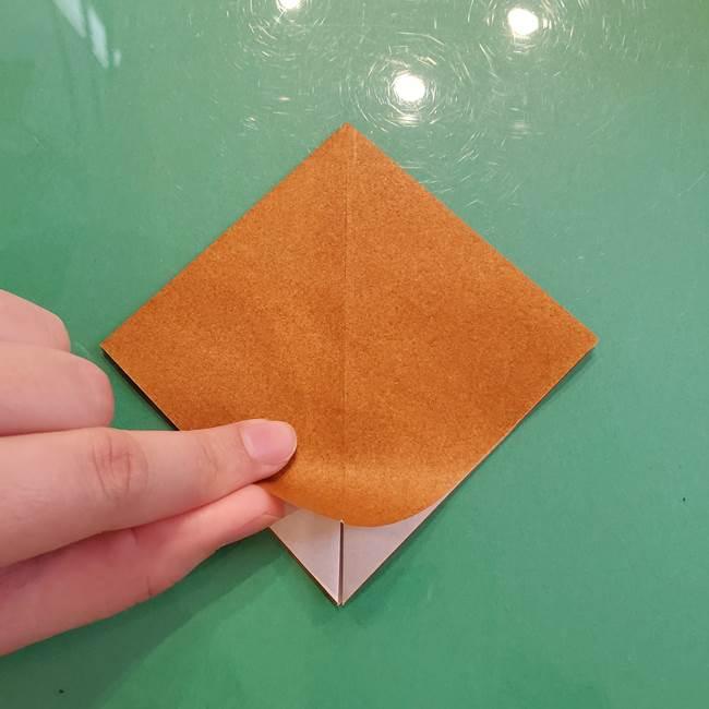どんぐりの折り紙の折り方作り方(立体)③傘(1)