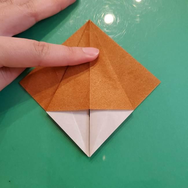 どんぐりの折り紙の折り方作り方(立体)③傘(11)