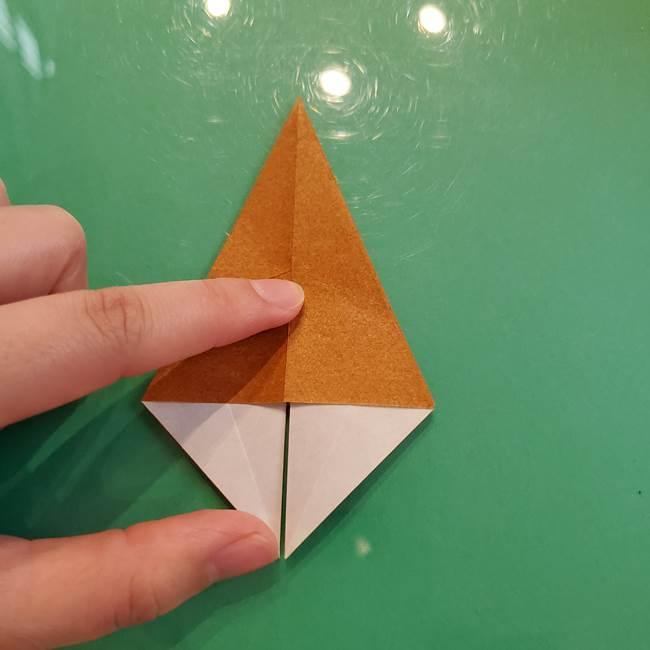 どんぐりの折り紙の折り方作り方(立体)③傘(13)