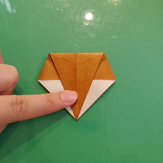 どんぐりの折り紙の折り方作り方(立体)③傘(14)