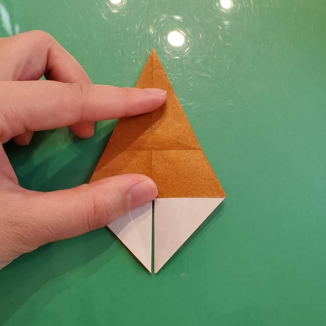 どんぐりの折り紙の折り方作り方(立体)③傘(15)