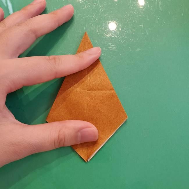 どんぐりの折り紙の折り方作り方(立体)③傘(16)