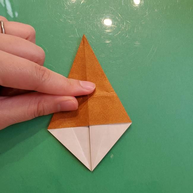 どんぐりの折り紙の折り方作り方(立体)③傘(17)