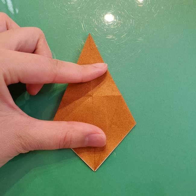 どんぐりの折り紙の折り方作り方(立体)③傘(18)