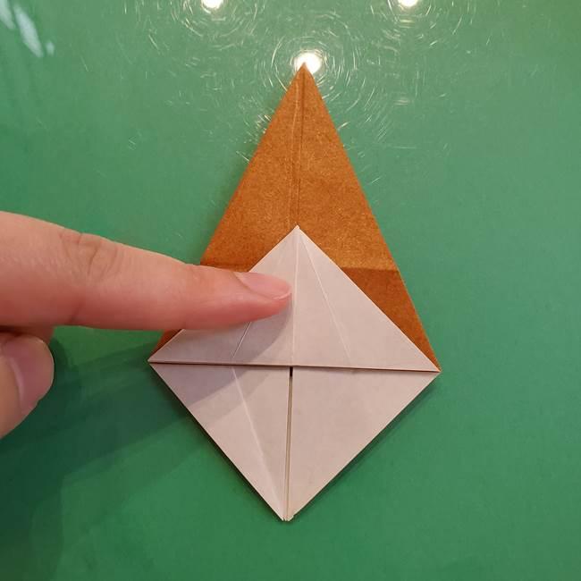 どんぐりの折り紙の折り方作り方(立体)③傘(19)