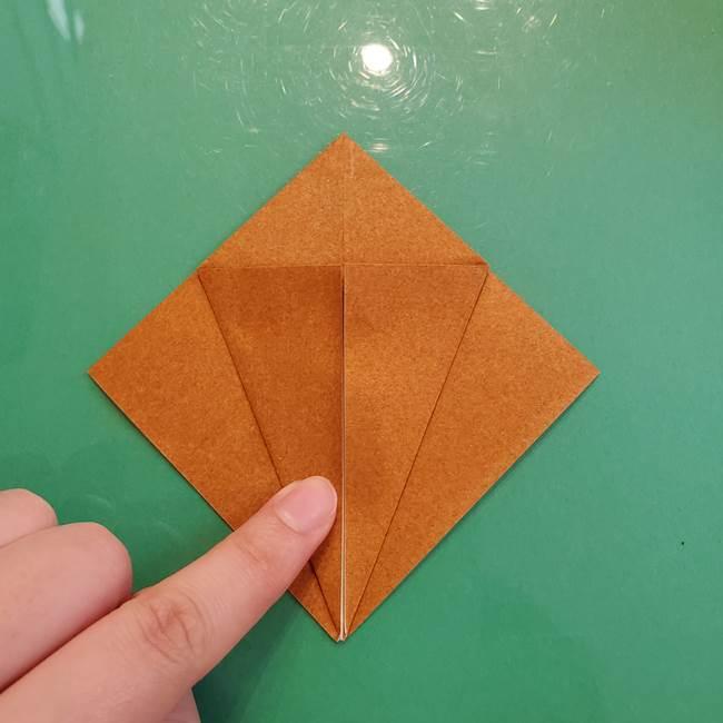 どんぐりの折り紙の折り方作り方(立体)③傘(2)