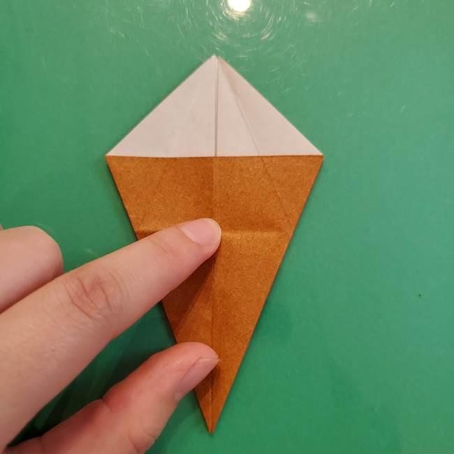 どんぐりの折り紙の折り方作り方(立体)③傘(22)